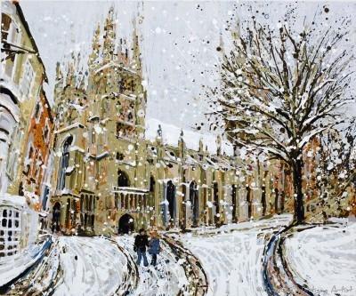Angelique Hartigan Canterbury Cathedral in the Snow