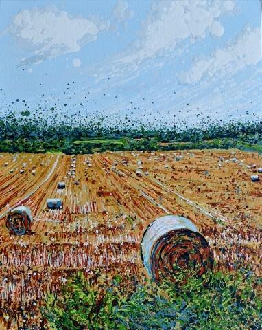 Angelique-Hartigan-Hay-Bales-in-August-Pilgrim-Way-Surrey