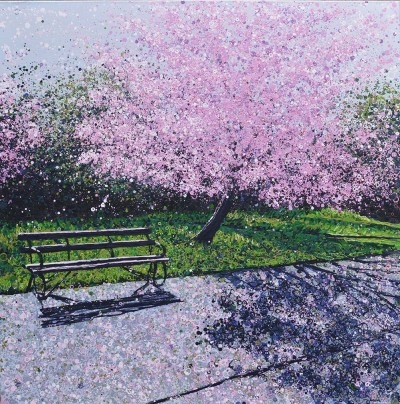 Cherry Blossom and Bench II