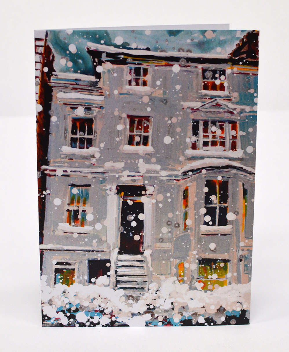 Greetings-Cards-Georgian-House-in-the-Snow-I-Front