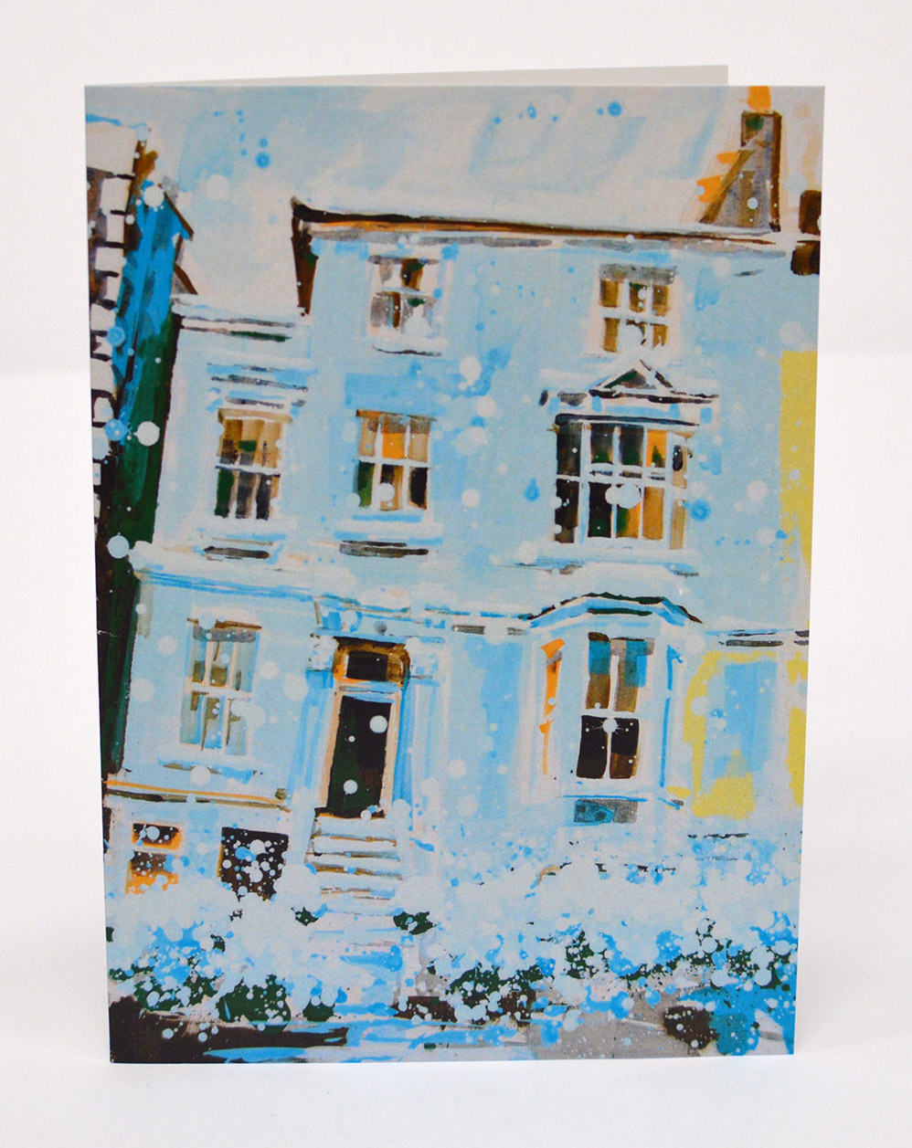 Greetings-Cards-Georgian-House-in-the-Snow-II-Front
