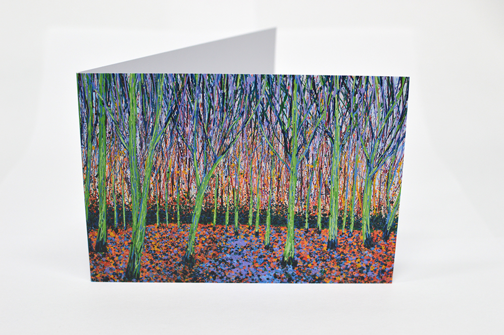 Greetings Cards January Trees I Front