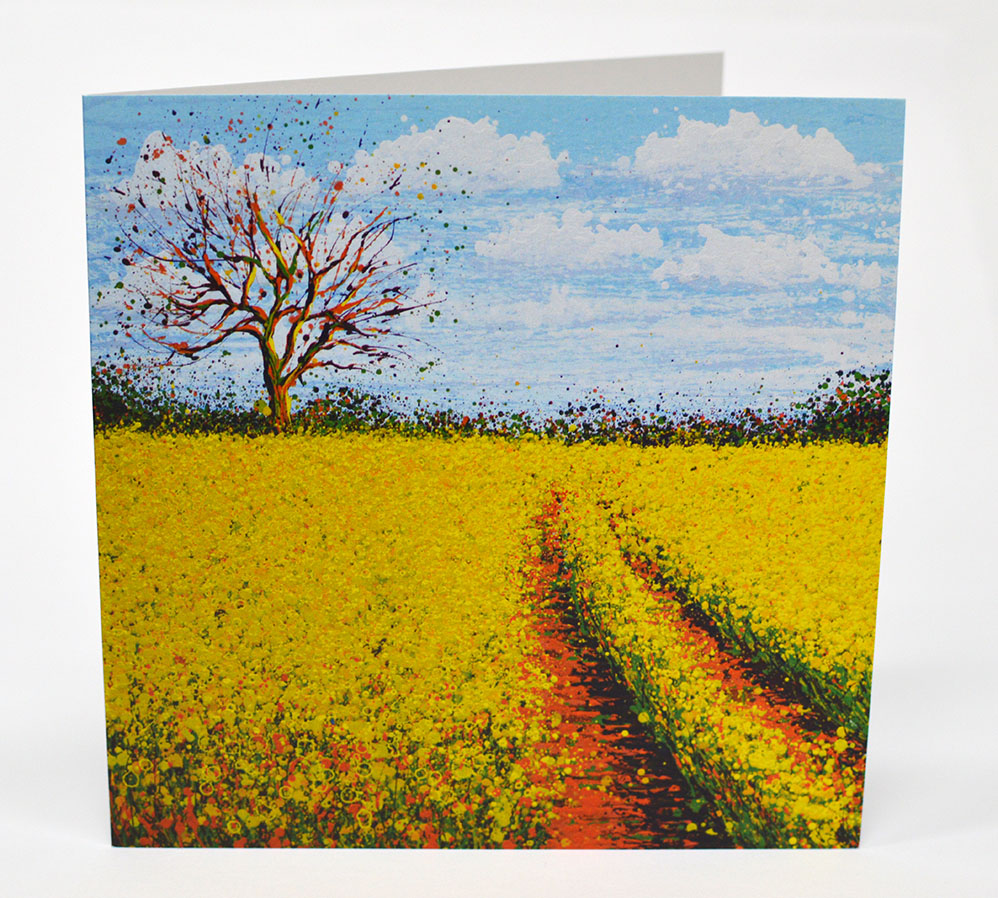 Greetings Cards Yellow Field Front