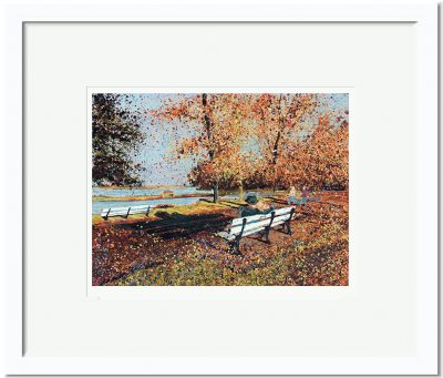 Open Edition – Signed and Numbered Small Collectors Print – Autumn in the Park, Maldon