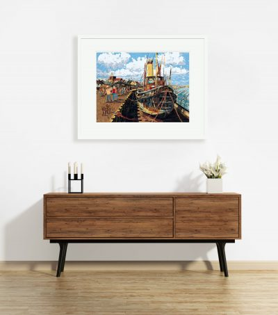 "Signed Limited Edition Print – Steam Tug ""Brent"", Maldon"