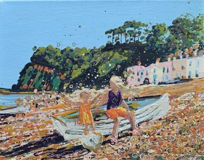 Open Edition – Signed and Numbered Small Collectors Print – On the Beach at Shaldon, Devon