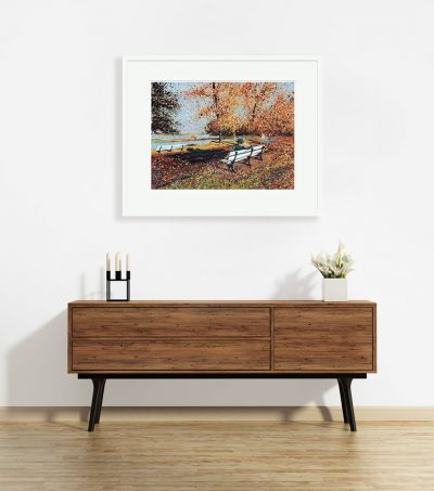 Signed Limited Edition Print – Autumn in the Park, Maldon