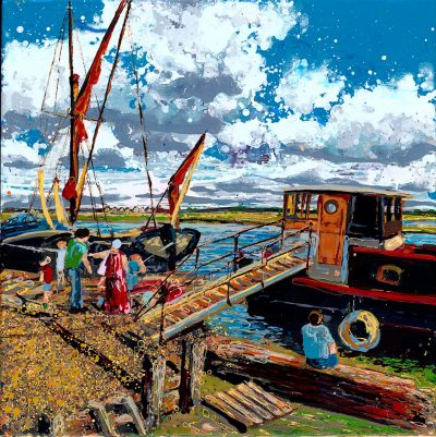Paintings of Maldon - Gone Crabbing Hythe Quay Maldon