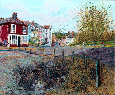 Paintings of Maldon - Towards the Old Workhouse Market Hill Maldon