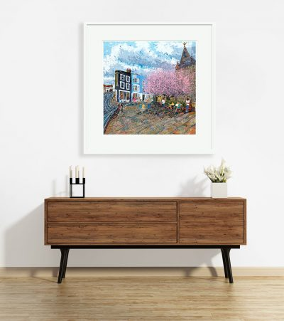 Signed, Limited edition giclee print – Meet me at the church, All Saints, Springtime