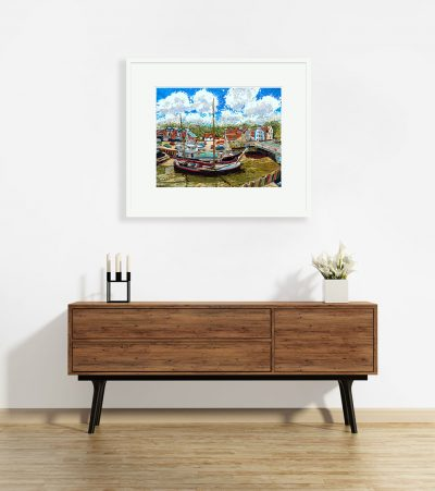 Signed Limited Edition Print – The Moorings, Fullbridge Quay, Maldon