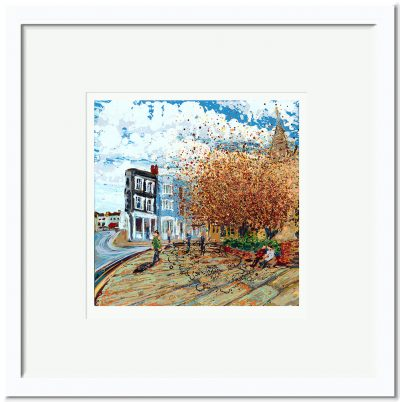 Open Edition – Signed and Numbered Small Collectors Print – Autumn at the Church, All Saints, Maldon