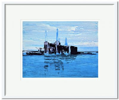 Open Edition – Signed and Numbered Small Collectors Print – Battersea Reflection I