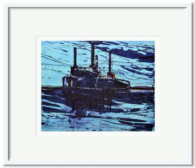 Open Edition – Signed and Numbered Small Collectors Print – Battersea Reflection II