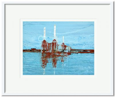 Open Edition – Signed and Numbered Small Collectors Print – Battersea in the Moonlight