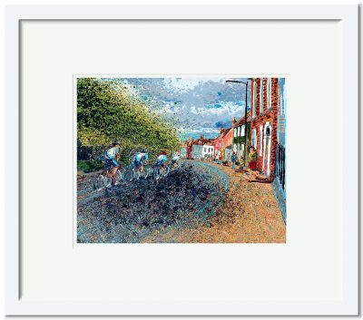 Open Edition – Signed and Numbered Small Collectors Print – Down the Hill and Off We Go!