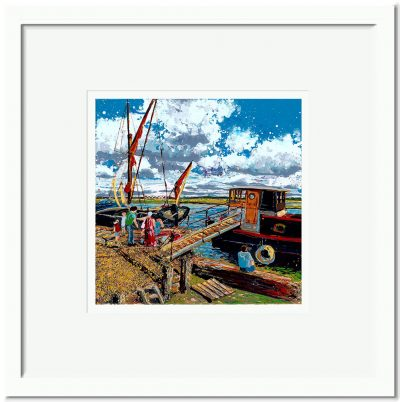 Open Edition – Signed and Numbered Small Collectors Print – Gone Crabbing, Hythe Quay, Maldon