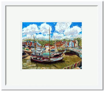 Open Edition – Signed and Numbered Small Collectors Print – The Moorings, Fullbridge Quay, Maldon