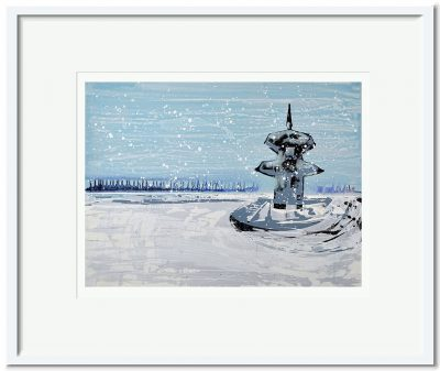 Open Edition – Signed and Numbered Small Collectors Print – Pagoda in the Snow
