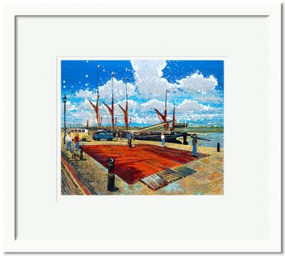 Open Edition – Signed and Numbered Small Collectors Print – Painting the Sails, Hythe Quay, Maldon