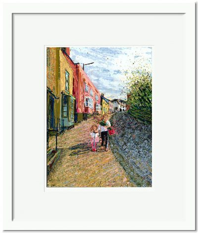 Open Edition – Signed and Numbered Small Collectors Print – Shopping with Mummy Market Hill Maldon