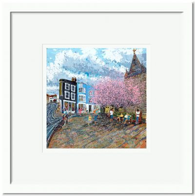 Open Edition – Signed and Numbered Small Collectors Print – Meet me at the church, All Saints, Springtime