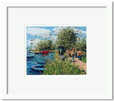Open Edition – Signed and Numbered Small Collectors Print – Summer Walk to Heybridge Basin, Maldon