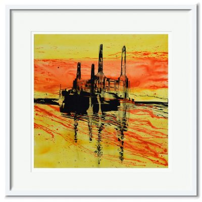 Open Edition – Signed and Numbered Small Collectors Print – Battersea at Sunset I