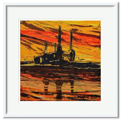 Open Edition – Signed and Numbered Small Collectors Print – Battersea at Sunset II