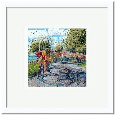 Open Edition – Signed and Numbered Small Collectors Print – Cycle to Heybridge Basin