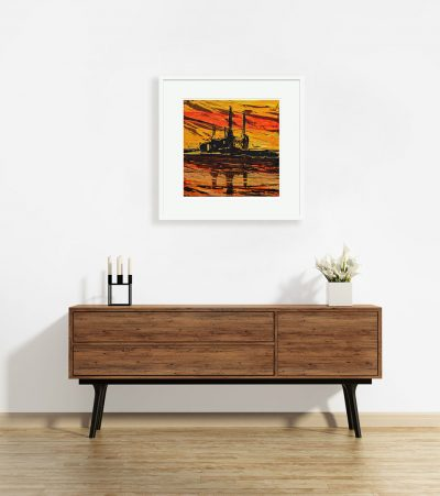Signed limited edition giclee print –  Battersea at Sunset II