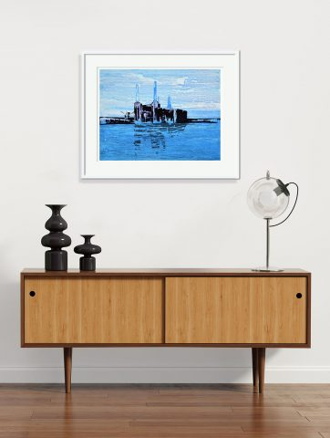 Signed, Limited edition giclee print – Battersea Reflection I