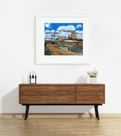 Signed, Limited edition giclee print – The Old Flour Mill from Fullbridge Quay, Maldon